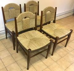 mile Jacques Ruhlmann J E Ruhlmann Rare Set of Four Chairs Model Rendez vous des p cheurs de truite  - 367103