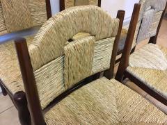 mile Jacques Ruhlmann J E Ruhlmann Rare Set of Four Chairs Model Rendez vous des p cheurs de truite  - 367104