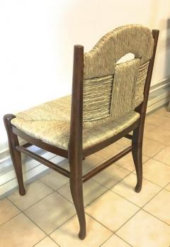 mile Jacques Ruhlmann J E Ruhlmann Rare Set of Four Chairs Model Rendez vous des p cheurs de truite  - 367105