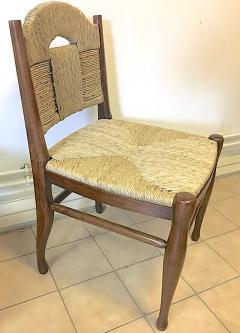 mile Jacques Ruhlmann J E Ruhlmann Rare Set of Four Chairs Model Rendez vous des p cheurs de truite  - 367106