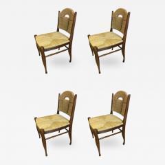 mile Jacques Ruhlmann J E Ruhlmann Rare Set of Four Chairs Model Rendez vous des p cheurs de truite  - 367777