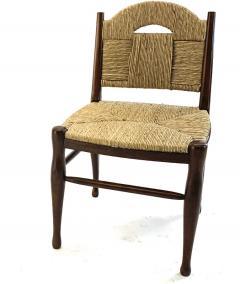 mile Jacques Ruhlmann J E Ruhlmann Rare Set of Four Chairs Model Rendez vous des p cheurs de truite  - 1536053