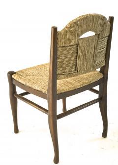 mile Jacques Ruhlmann J E Ruhlmann Rare Set of Four Chairs Model Rendez vous des p cheurs de truite  - 1536060