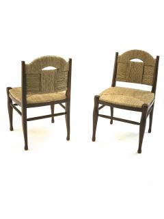 mile Jacques Ruhlmann J E Ruhlmann Rare Set of Four Chairs Model Rendez vous des p cheurs de truite  - 1536061