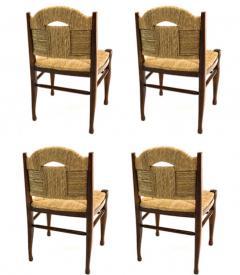 mile Jacques Ruhlmann J E Ruhlmann Rare Set of Four Chairs Model Rendez vous des p cheurs de truite  - 1536144