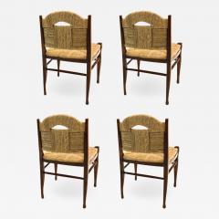 mile Jacques Ruhlmann J E Ruhlmann Rare Set of Four Chairs Model Rendez vous des p cheurs de truite  - 1537412