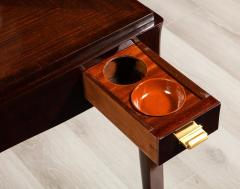 mile Jacques Ruhlmann Rare Rosewood Game Table by mile Jacques Ruhlmann - 1550829