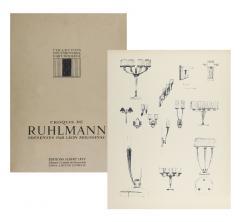 mile Jacques Ruhlmann Ruhlmann Set of Four Sconces France 1925 - 777996