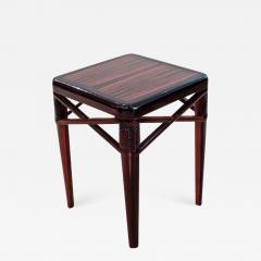 mile Jacques Ruhlmann Ruhlmann Small Side Table in Macassar Ebony - 1602722