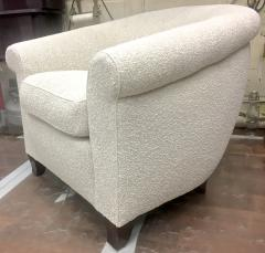 mile Jacques Ruhlmann Ruhlmann Style 1930s Extreme Comfort Pair of Club Chair Covered in Boucle Cloth - 609365
