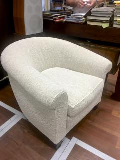 mile Jacques Ruhlmann Ruhlmann Style 1930s Extreme Comfort Pair of Club Chair Covered in Boucle Cloth - 609369