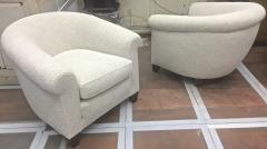 mile Jacques Ruhlmann Ruhlmann Style 1930s Extreme Comfort Pair of Club Chair Covered in Boucle Cloth - 609402