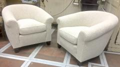 mile Jacques Ruhlmann Ruhlmann Style 1930s Extreme Comfort Pair of Club Chair Covered in Boucle Cloth - 609405