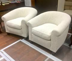 mile Jacques Ruhlmann Ruhlmann Style 1930s Extreme Comfort Pair of Club Chair Covered in Boucle Cloth - 609407