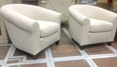 mile Jacques Ruhlmann Ruhlmann Style 1930s Extreme Comfort Pair of Club Chair Covered in Boucle Cloth - 609416