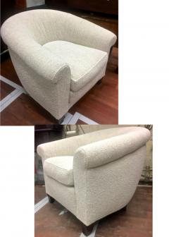 mile Jacques Ruhlmann Ruhlmann Style 1930s Extreme Comfort Pair of Club Chair Covered in Boucle Cloth - 609423