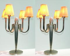 mile Jacques Ruhlmann Stunning Pair of Art Deco Table Lamp in the Style of J E Ruhlmann - 1874125