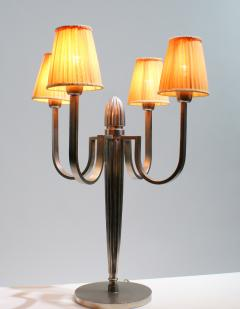 mile Jacques Ruhlmann Stunning Pair of Art Deco Table Lamp in the Style of J E Ruhlmann - 1874182