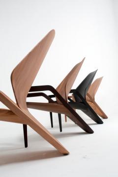 ndio da Costa Brazilian Design Contemporary Ava Armchair in Jequitib Wood - 1222318