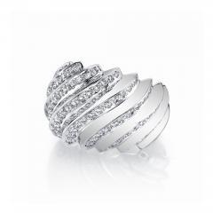 1 31 Carat Diamond Dome Ring 18k White Gold Art Deco Inspired - 1418578