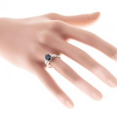 1 45 Carat Cornflower Oval Blue Sapphire Diamond Platinum Engagement Ring - 396503
