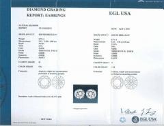 1 46 Carat Diamond White Gold Stud Earrings - 717254