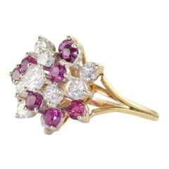1 50 CTW Diamond and 1 35 CTW Ruby Cocktail Ring - 2061331
