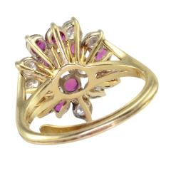 1 50 CTW Diamond and 1 35 CTW Ruby Cocktail Ring - 2061332