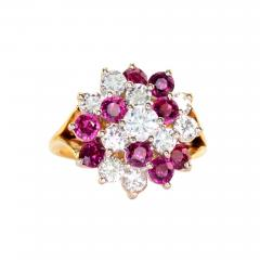 1 50 CTW Diamond and 1 35 CTW Ruby Cocktail Ring - 2065001