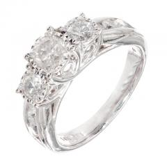 1 64 Carat Diamond Three Stone White Gold Engagement Ring - 717781