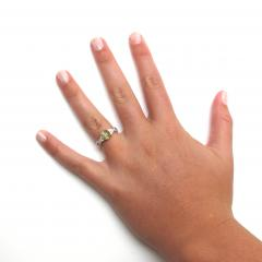 1 73 Carat Oval Cats Eye Chrysoberyl Cabochon and Diamond 18k White Gold Ring - 1416683