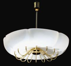 1 of 7 Ballroom Shell Brass Chandeliers Germany 1950s - 1549001
