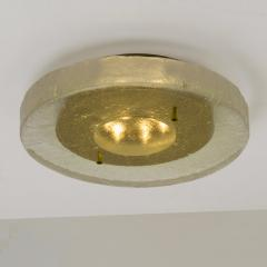 1 of the 2 of Fused Massive Bullseye Glass and Brass Wall Lights Flush Mounts - 1013098