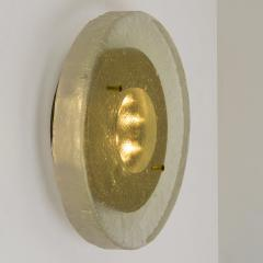 1 of the 2 of Fused Massive Bullseye Glass and Brass Wall Lights Flush Mounts - 1013100