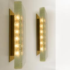 1 of the 2 of Fused Solid Bullseye Glass and Brass Wall Lights or Flush Mounts - 1013088