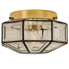 1 of the 3 Iron and Clear Glass Lantern Flush Mounts by Limburg - 1190133