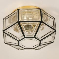 1 of the 3 Iron and Clear Glass Lantern Flush Mounts by Limburg - 1190134