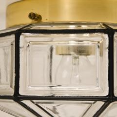 1 of the 3 Iron and Clear Glass Lantern Flush Mounts by Limburg - 1190135
