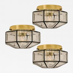 1 of the 3 Iron and Clear Glass Lantern Flush Mounts by Limburg - 1190636