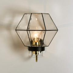 1 of the 30 Iron and Clear Glass Wall Lights by Glash tte Limburg 1960 - 1190285