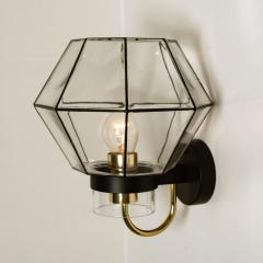 1 of the 30 Iron and Clear Glass Wall Lights by Glash tte Limburg 1960 - 1190286