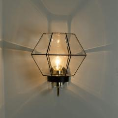 1 of the 30 Iron and Clear Glass Wall Lights by Glash tte Limburg 1960 - 1190287