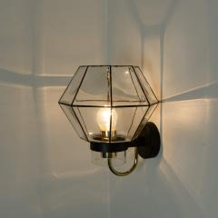 1 of the 30 Iron and Clear Glass Wall Lights by Glash tte Limburg 1960 - 1190288