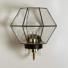 1 of the 30 Iron and Clear Glass Wall Lights by Glash tte Limburg 1960 - 1190289