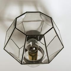 1 of the 30 Iron and Clear Glass Wall Lights by Glash tte Limburg 1960 - 1190291