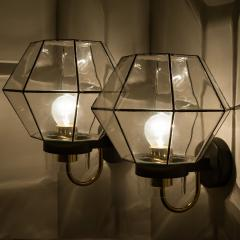 1 of the 30 Iron and Clear Glass Wall Lights by Glash tte Limburg 1960 - 1190296