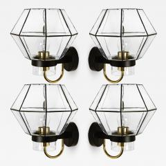 1 of the 30 Iron and Clear Glass Wall Lights by Glash tte Limburg 1960 - 1190640