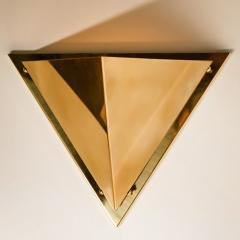 1 of the 6 Pyramid Shaped Massive Brass Wall Lamps 1970s - 1170747