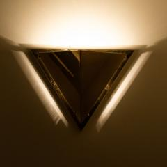 1 of the 6 Pyramid Shaped Massive Brass Wall Lamps 1970s - 1170749