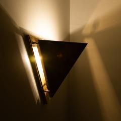 1 of the 6 Pyramid Shaped Massive Brass Wall Lamps 1970s - 1170750